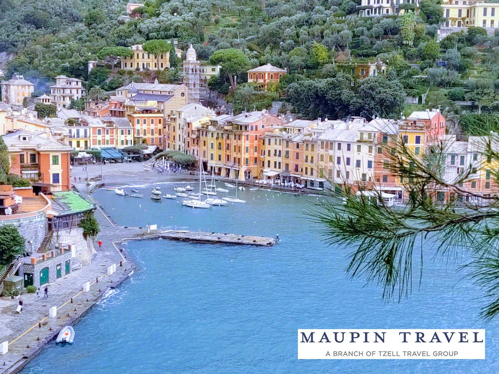 overlooking Portofino Italy